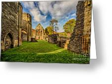 Valle Crucis Abbey Ruins Greeting Card