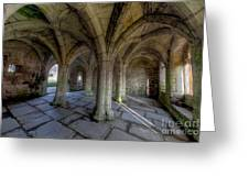 Valle Crucis Chapter House  Greeting Card by Adrian Evans