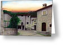 Vallecchia De Monte Calvo Greeting Card