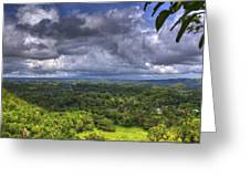 Valley At Chocolate Hills Greeting Card