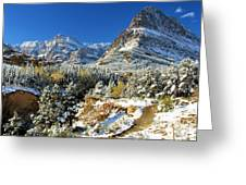 Valley Below Grinnell Greeting Card