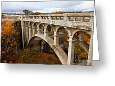 Valley Bridge II Greeting Card