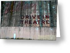 Valley Drive-in Theatre Greeting Card