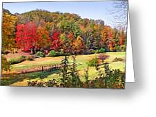 Valley Farm In The Fall Greeting Card