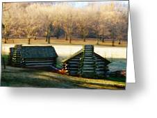 Valley Forge Cabins Greeting Card