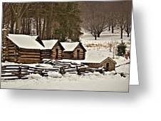 Valley Forge Cabins In Snow 2 Greeting Card