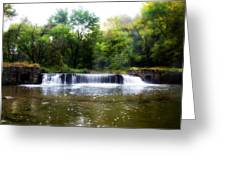 Valley Forge Pa - Valley Creek Waterfall  Greeting Card