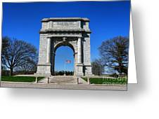 Valley Forge Park Memorial Arch Greeting Card