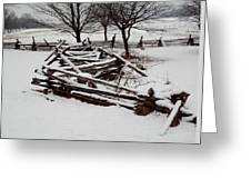 Valley Forge Snow Greeting Card