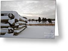 Valley Forge Winter 8 Greeting Card