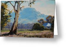 Valley Gum Tree Greeting Card
