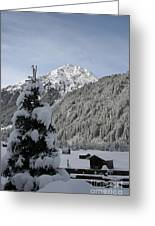 Valley In The Snow Greeting Card