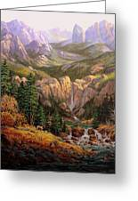 Valley King Greeting Card by W  Scott Fenton