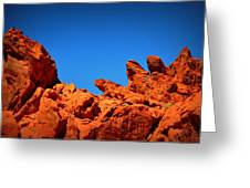 Valley Of Fire Nevada Desert Rock Lizards Greeting Card