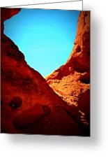 Valley Of Fire Nevada Desert Sand People Greeting Card