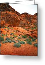 Valley Of Fire Red Sandstone Cliffs Greeting Card