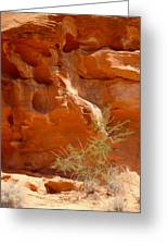 Valley Of Fire Rock Formation Greeting Card