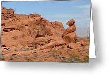 Valley Of Fire Rock Formations Greeting Card