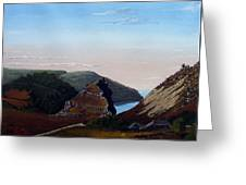 Valley Of Rocks Devon Greeting Card