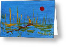 Valley Of The Red Moon Greeting Card