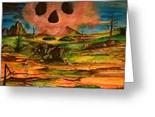 Valley Of The Skulls Greeting Card