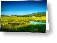 Valley Pasture Greeting Card by Paul Herrmann