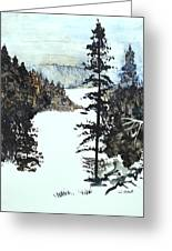 Valley Snow Greeting Card