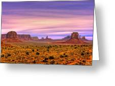 Valley Trail Greeting Card by Darryl Gallegos