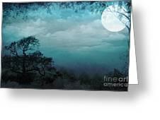 Valley Under Moonlight Greeting Card