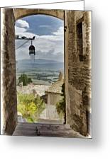 Valley View - Assisi Greeting Card