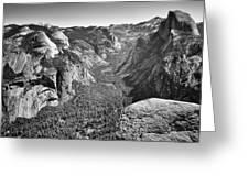 Valley View At Glacier Point Greeting Card
