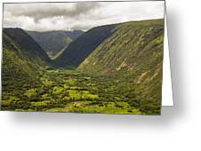 Vally View Greeting Card