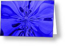 Values In Blue Greeting Card