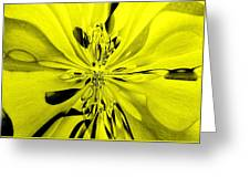Values In Yellow Greeting Card