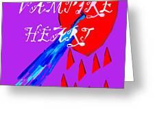 Vampire Heart Greeting Card