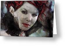 Vampiress Greeting Card