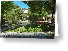 Van Gogh - Courtyard In Arles Greeting Card