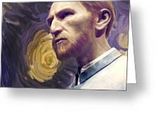 Van Gogh Portrait Greeting Card