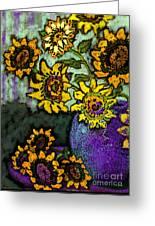 Van Gogh Sunflowers Cover Greeting Card