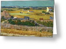 Van Gogh Wheatfield 1888 Greeting Card