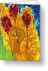 Van Gogh's Garden Of Eden Greeting Card