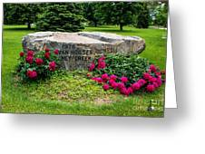 Van Hoosen Jones Stoney Creek Entrance Stone Greeting Card
