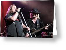 Van Zant - Johnny With Donnie Greeting Card