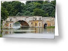 Vanbrughs Grand Bridge Greeting Card by Tony Murtagh