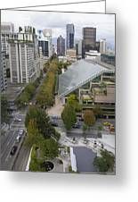 Vancouver Bc Downtown Cityscape View Greeting Card