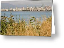 Vancouver Bc Downtown From Hasting Mills Park Greeting Card