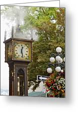 Vancouver Bc Historic Gastown Steam Clock Greeting Card