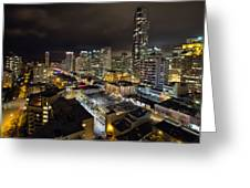 Vancouver Bc Robson Street Cityscape Greeting Card
