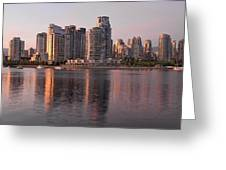 Vancouver Bc Waterfront Condominiums Greeting Card