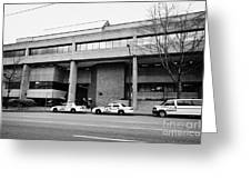 Vancouver Court Of British Columbia Criminal Court Bc Canada Greeting Card by Joe Fox